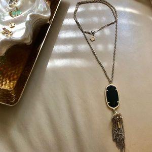 Black Kendra Scott Tassel Necklace
